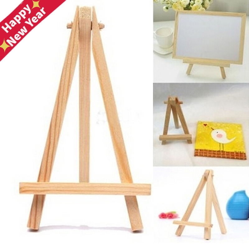 1Pcs Mini Artist Wooden Easel Wood Wedding Table Card Stand Display Holder For Party Decoration 15*8cm Triange Easel
