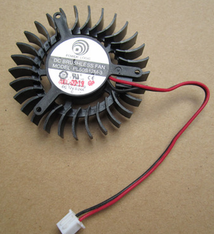 Free Shipping For POWER PL50S12M-3 DC 12V 0.24A 3-wire 55x55mm Server Cooler Fan