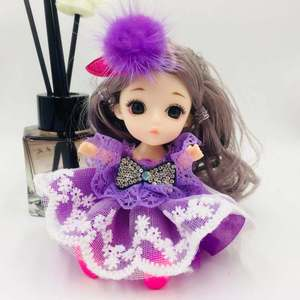 13CM BJD Doll 3D Real Eye 13Movable Joint Doll Keychain DIY Children Toy Accessories Decoration Fashion Nude Doll Toy For Girls