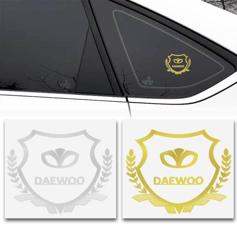 2 шт. 3D металлический автомобильный Стайлинг боковой двери значок наклейки сбоку эмблема на окно наклейки для Daewoo Espero Nexia Matiz Lanos аксессуары