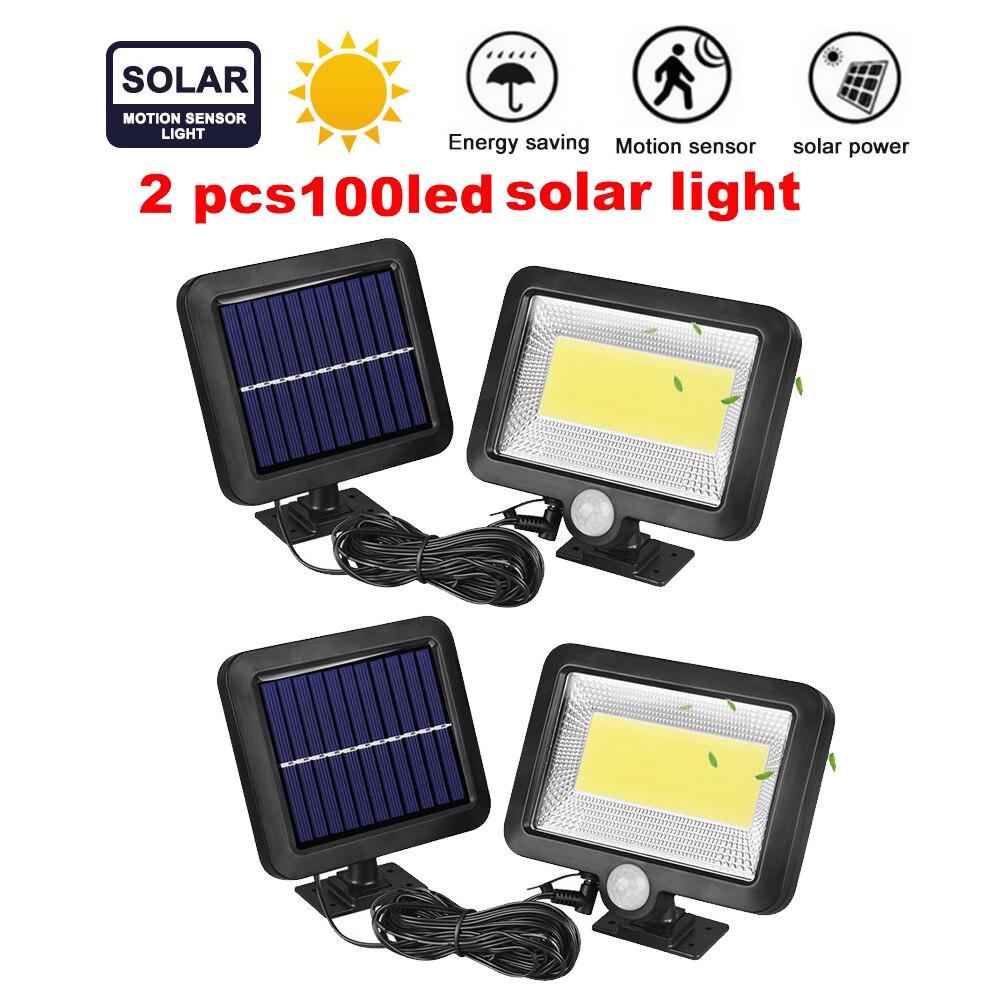 2/4pcs Solar Light Garden Lamp 100/56/30 LED Outdoor Wall Lights Body Induction Motion Sensor Led Super Bright Courtyard Waterpr