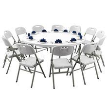 Круглый складной стол бытовой обеденный стол Простой Большой Круглый стол обеденный стол складной простой уличный складной стол