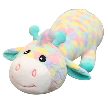 Nice70cm-120CM Cute Colorful Deer Plush Toys Cartoon Animal Giraffe Dolls Stuffed Soft Dolls for Children Baby Birthday Gifts new arrival cute cartoon plush hedgehog dolls soft cotton stuffed kawaii hedgehog plush baby toys birthday gifts for kids