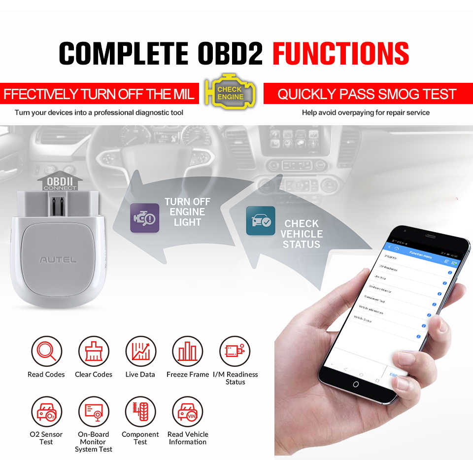 Autel AP200 Bluetooth OBD2 Scanner Code Reader Volledige System Diagnostic Tool Autovin Epb Bms Sas Tpms Dpf Immo Pk Maxicom MK808