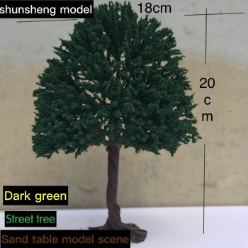 Train sand table model scene DIY model material wire tree simulation effect realistic with base цена 2017