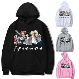 Friends Oversized Hoodie Sweatshirt Women Men My Hero Academia Friends Polerone Bluza Damska Korean Clothe Streetwear Sweatshirt