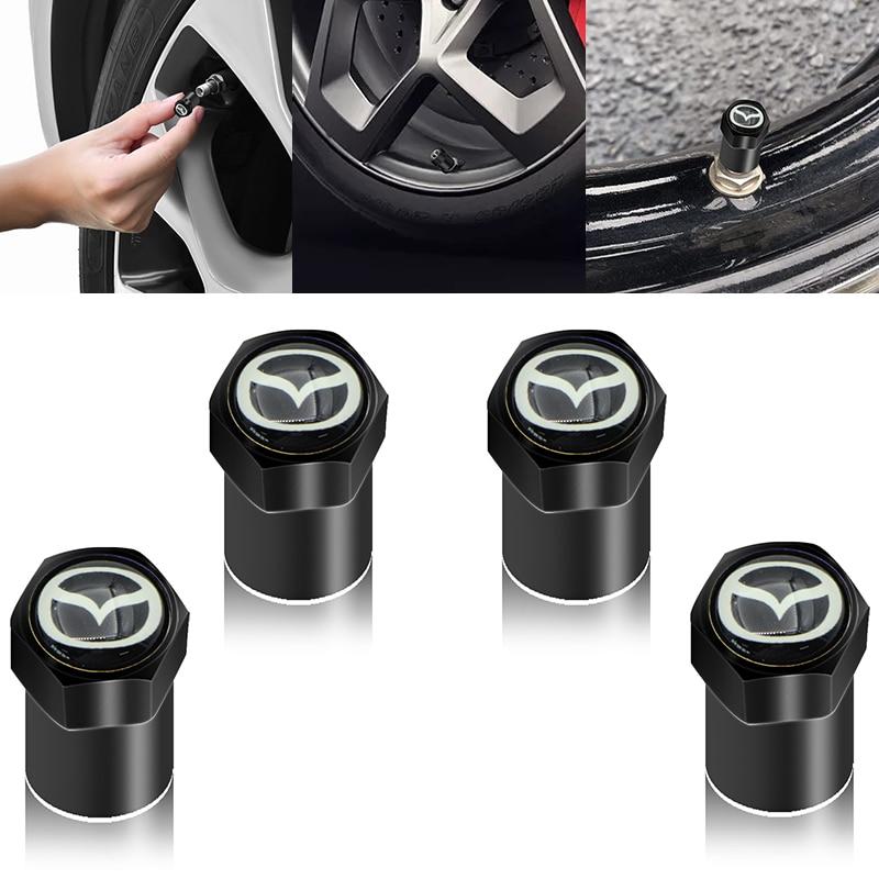 4 шт колесная шина запчасти крышка для колпачков штока клапана для колес Стикеры для колеса шины крышки клапана для Mazdas 5 6 323 626 RX8 7 MX3 MX5 Atenza Axela
