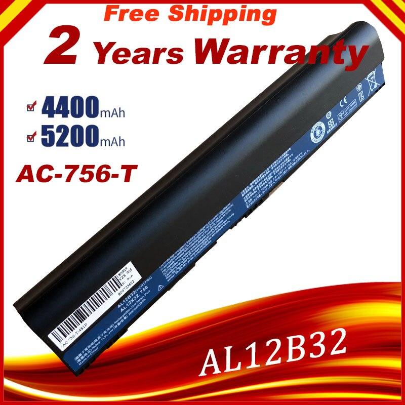 Laptop Battery For Acer Aspire One 725 756 V5-171 AL12X32 AL12A31 AL12B31 AL12B32 TravelMate B113 C710 Chromebook Fast Shipping