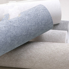 3D solid silk nonwoven wallpaper modern simple high grade solid color plain grey living room bedroom wallpaper household