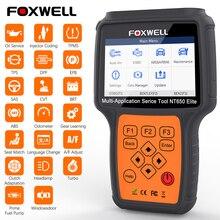 Foxwell NT650 Elite OBD2 Xe Công Cụ Chẩn Đoán Động Cơ ABS SRS Túi Khí 20 Đặt Lại Chức Năng Tự Động Quét Automotivo OBD 2 Mã đầu Đọc
