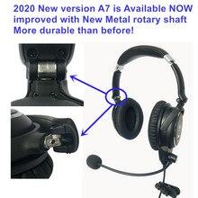 Neue UFQ A7 ANR aviation headset KLEINE Boss A 20 die gleiche ANR ebene funktion ABER viel leichter und mehr komfortable