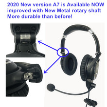 New UFQ A7 ANR aviation headset  SMALL Boss A 20  the same ANR level function BUT much lighter and more comfortable