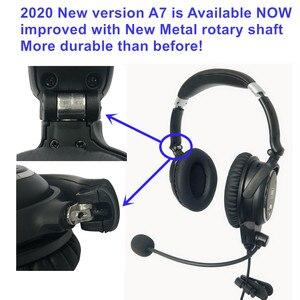 Image 1 - Novo ufq a7 anr aviação fone de ouvido pequeno chefe A 20 a mesma função de nível anr mas muito mais leve e mais confortável