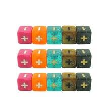 5 pçs/set novo produto quadrado canto mais e menos símbolo dados placa acessórios do jogo pré-escolar educação suprimentos 1.6cm