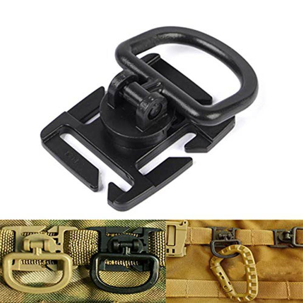 4X Tactical Molle Hanging Strap Webbing Buckle Clip Key Water Bottle Hook Belt