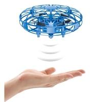 Mini Drone OVNI operado a mano RC helicóptero Quadrocopter Dron inducción infrarroja Avión de bola voladora juguetes para niños