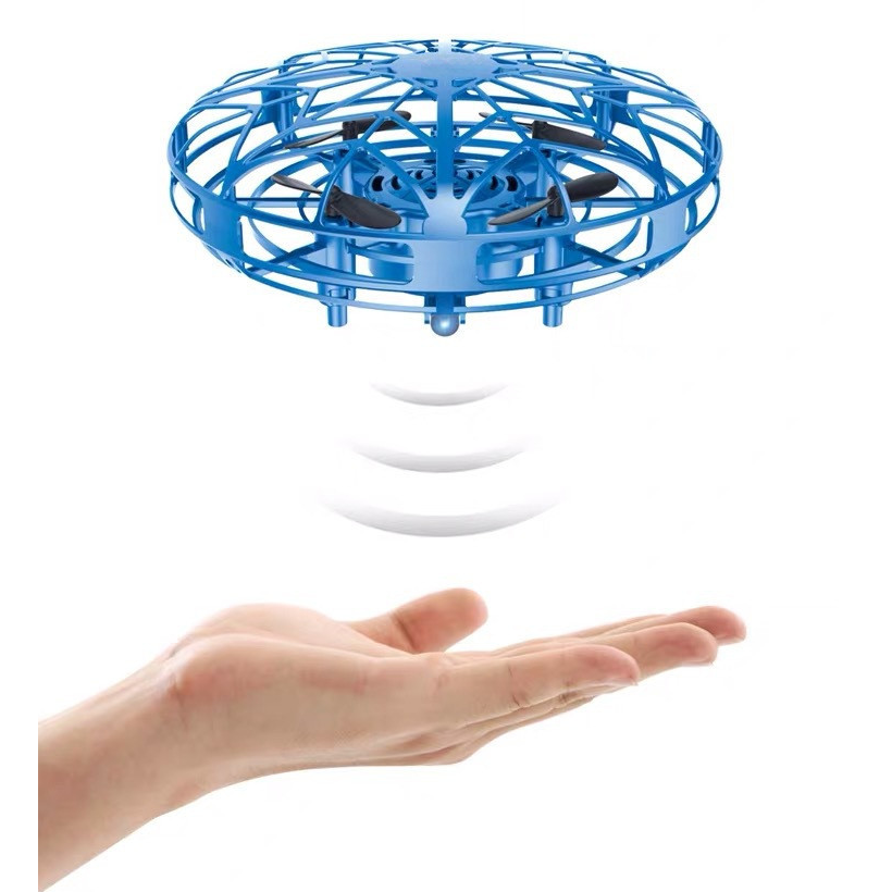 Mini UFO Drone Hand Operated RC Helicopter Quadrocopter Dron Infrared Induction Flying Ball Plane Kids Toys