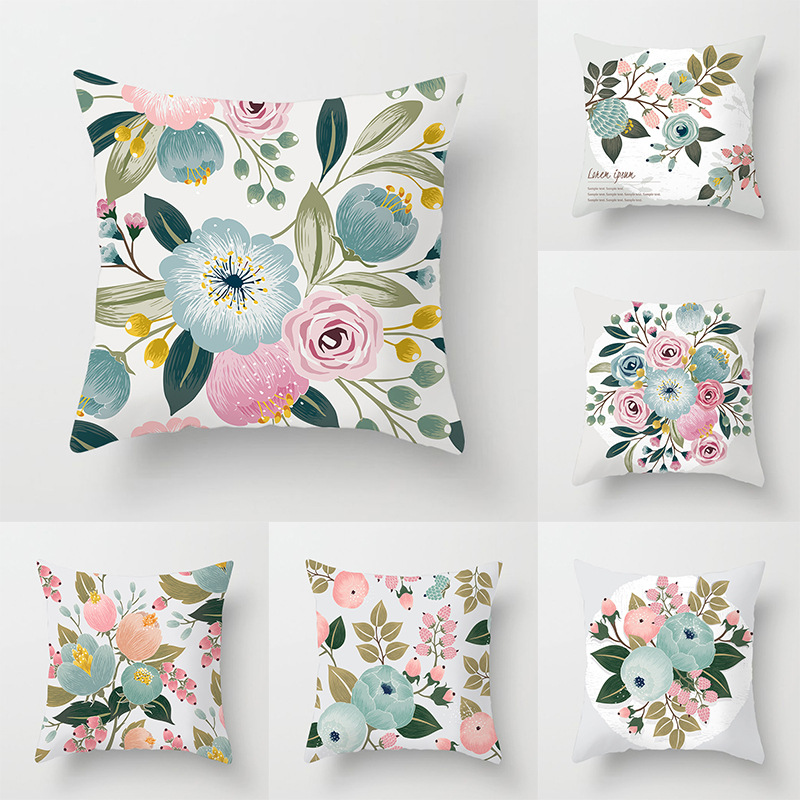 Elife American Style Tropical Green Leaves Cushions Cover Polyester Sofa Car Throw Pillows Case Cojines Home Decorative 45X45CM