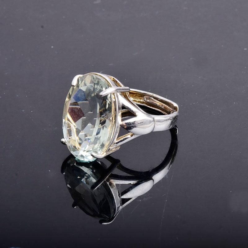 Image 3 - CSJ большой камень 13ct кольцо с зеленым аметистом овальной  огранки 13*18 стерлингового серебра 925 натуральный драгоценный камень  хорошее ювелирное изделие для женщин Девушка подарочная коробкаКольца