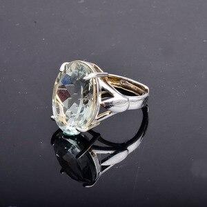 Image 3 - CSJ Big stone 13ct Anello di ametista verde ovale cut 13*18 anello in argento sterling 925 naturale della pietra preziosa gioielli per contenitore di regalo delle donne della ragazza