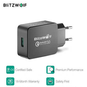 BlitzWolf 18W Quick Fast Charge 3 Universal Phone Charger Micro USB Cable Type C Cell Mobile Phone Accessories Charging QC 3.0 - DISCOUNT ITEM  35 OFF Cellphones & Telecommunications