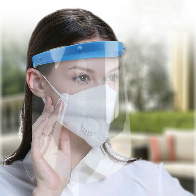 Disposable Full Face Mask Protect Anti Saliva / Foam Dust/Safety Shield Clear Face Mask Protect Eye Safety
