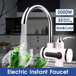 3000W 2 IN 1 LED Display Instant Elektrische Wasser Heizung Wasserhahn Tippen Heiß Kalt Wasserhahn Tankless Küche Wasser Heizung schnelle Heizung