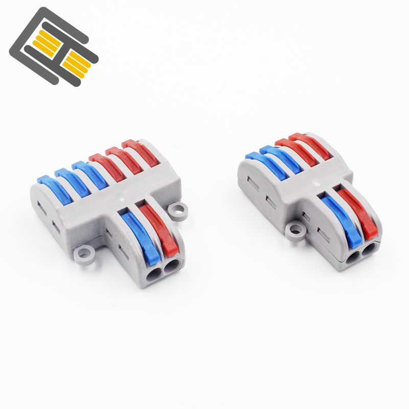 New Cable Connector 2 Into 4/6 Splitter Cable Terminal Compact Wire Connector Screw Fixed Connector