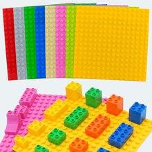 16*16 punti piastre di Base giocattolo compatibile blocchi di mattoni di grandi dimensioni piastra di Base bambini blocchi di costruzione fai da te accessori pavimento in mattoni giocattolo bambino