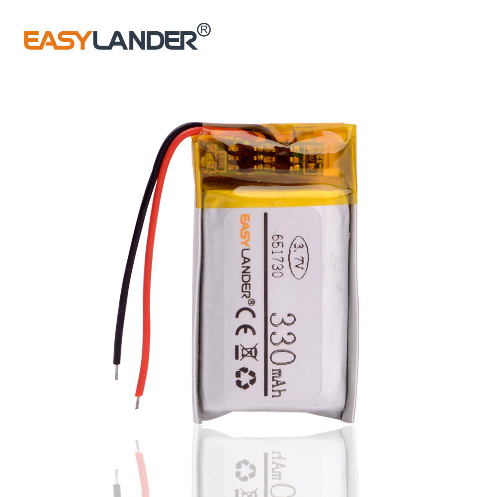 3.7v Lithium Polymer Battery 651730 330MAH Small Toys MP3 MP4 GPS Navigation Mobile Power
