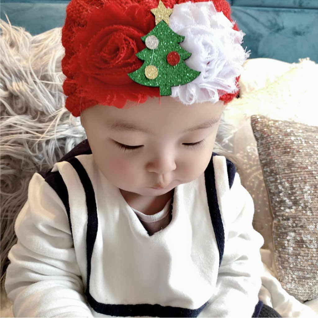 Nowonarodzone dziecko chłopcy dziewczęta dzianiny koralik kapelusz boże narodzenie czapka nakrycia głowy czapka świąteczna fotografia rekwizyty szydełka czapka dla niemowląt шапка детская