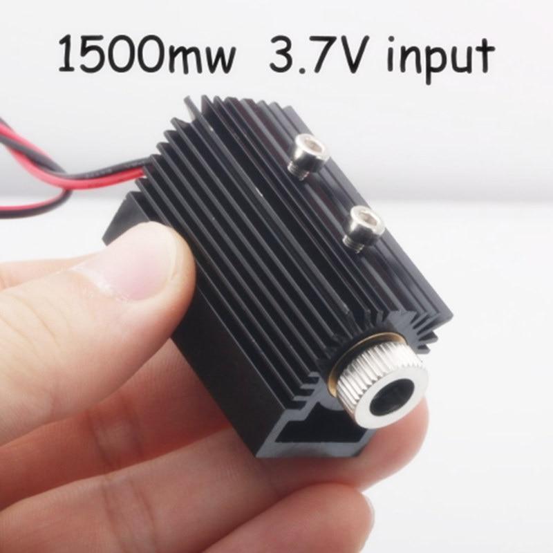 1500mw 405nm Fiber Laser Head Tube Module For Mini Slot Machine Cut Engraver