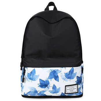 Women Fashion Printed Backpack Canvas School Bag For Teenage Girl Student Bookbag Travel Laptop Back Bag  Black Bagpack Rucksack - DISCOUNT ITEM  49% OFF All Category