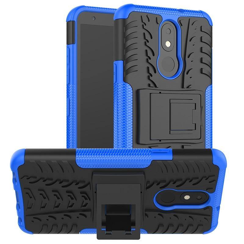 For LG K30 2019 Case Silicone Kickstand Shockproof Phone Case Cover For LG K30 2019 Case For K30 2019 Armor Back Cover Funda