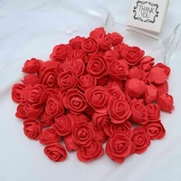 100pcs/set Concise PE Foam Rose Head Artificial Flower DIY Bear Doll Party Decoration Valentine's Day Rose Bear Accessories