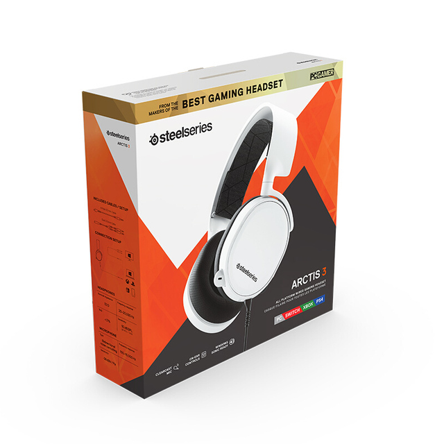 SteelSeries 2019 Edition ARCTIS 3 Wired Gaming Headphones ClearCast Noise Cancelling with Windows Sonic Spatial Audio for XBOX 6