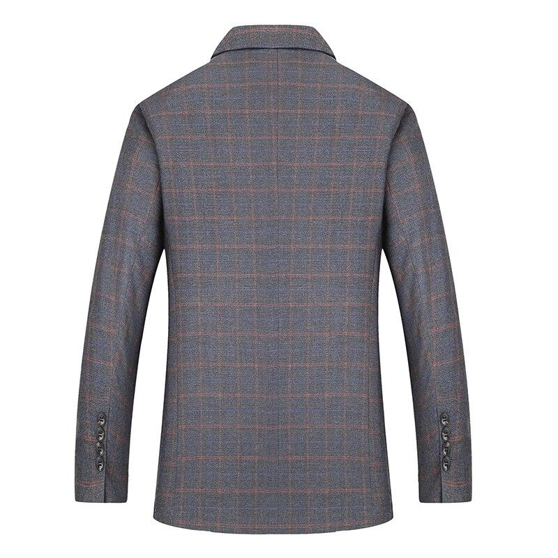 2019 grande talla grande 8XL 7XL 6XL nueva llegada Otoño e Invierno chaqueta de traje de hombre moda Slim Fit Brazer chaquetas Casual de los hombres - 5