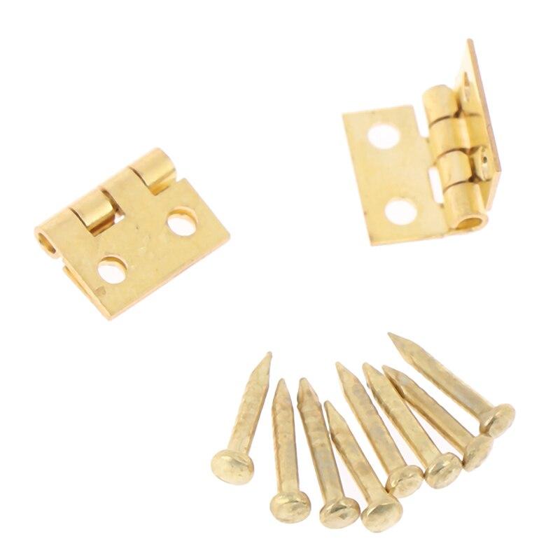 2Pcs/set Dollhouse Miniature Mini Hinge Model Accessories With Small Screw