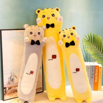 Almohada de felpa larga para gatos y adultos Almohada larga de juguete...