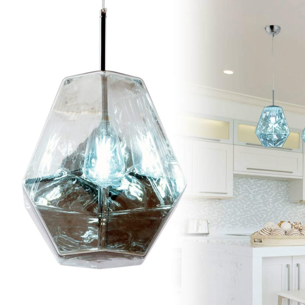 Современная роскошная акриловая Подвесная лампа, светодиодный винтажный причудливый Алмазный абажур, Подвесная лампа для ресторана, гости