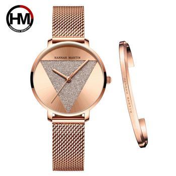 High Quality 1 set Bracelet & Japan Quartz Waterproof Young Lady Watch Stainless Steel Mesh Band Women Watches Relogio Feminino цена 2017