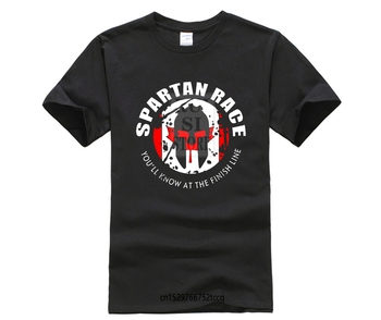 Hot Sale New Men'S T Shirt Tee Shirt For Men MAT Q VO Men's Spartan TRIFECTA T Shirts image
