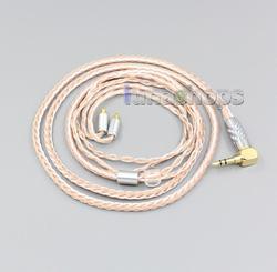 2.5mm 3.5mm XLR zrównoważony 16 rdzeń OCC domieszka srebra kabel słuchawek dla Sennheiser IE400 IE500 Pro LN006458