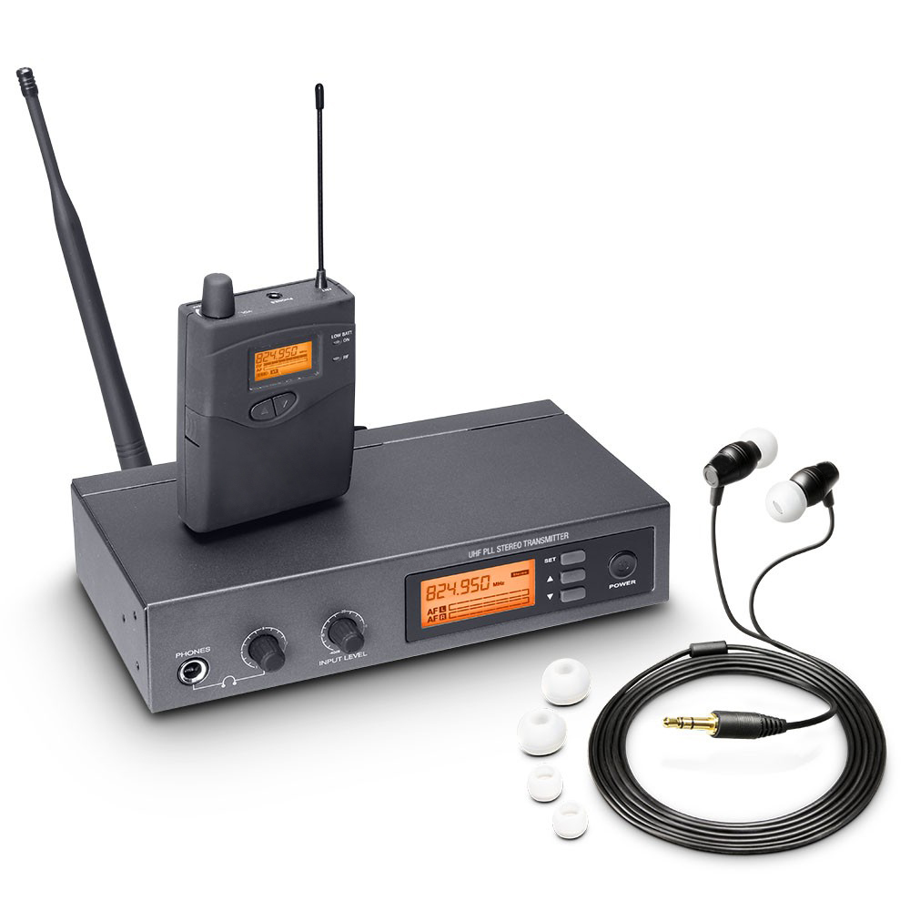 Pasgao PR90  Stereo In Ear Monitor System Wireless Monitor System Lightweight And Small Size 655-679MHZ