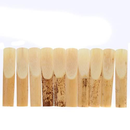 10 pièces 2.5 Reed bambou pour bE Alto Saxophone saxo instrument de musique accessoires outils - 2