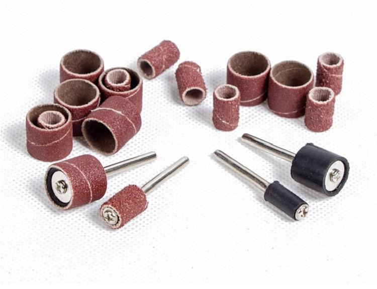 New 102pcs12.7mm Sandpaper Sanding Ring Grinding Head Polish Circle For Electric Mini Grinder Sandpaper Ring Rotary Tool