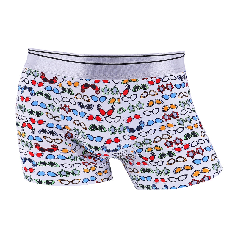 Underwear Man Ice Silk Male Underpants Gay Seamless Design Men's Boxers Fashionable Boxer Shorts For Men Sexy Mens Panties