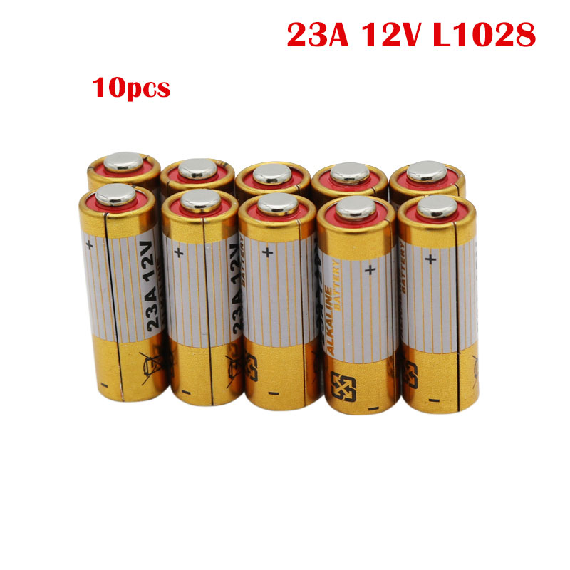 NEW 10PCS 23A <font><b>12V</b></font> L1028 <font><b>A23</b></font> A-23 RV08 Primary Dry <font><b>Batteries</b></font> Alkaline Electronic <font><b>Battery</b></font> Wholesales Free Drop shipping image