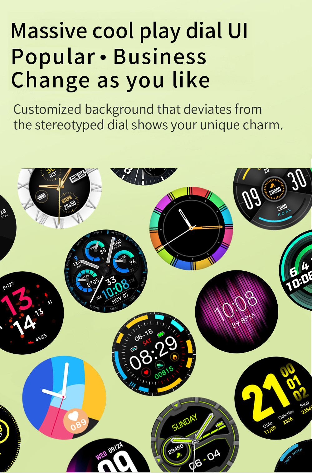 V23 relógio inteligente 2020 masculino feminino tela