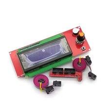 Rampaları 1.4 2004 LCD kontrol akıllı adaptör denetleyici kurulu 3D yazıcılar parçaları kablo aksesuarları Ramps1.4 anakart parça